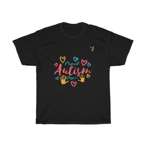 Autism Awareness - Proud Autism Mom T-Shirt - Trendy Zebra