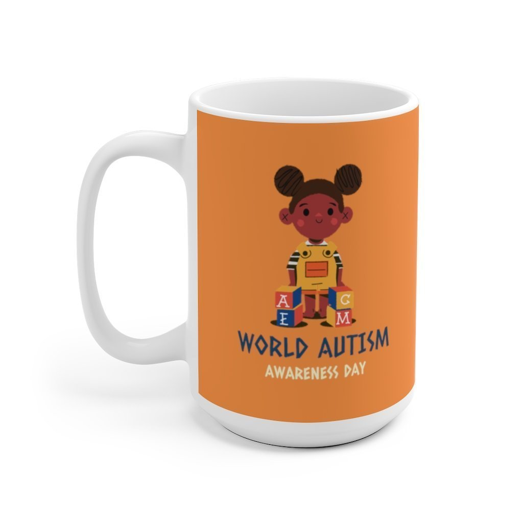 Autism Awareness Mug - Kid with Jigsaw Puzzle - Trendy Zebra