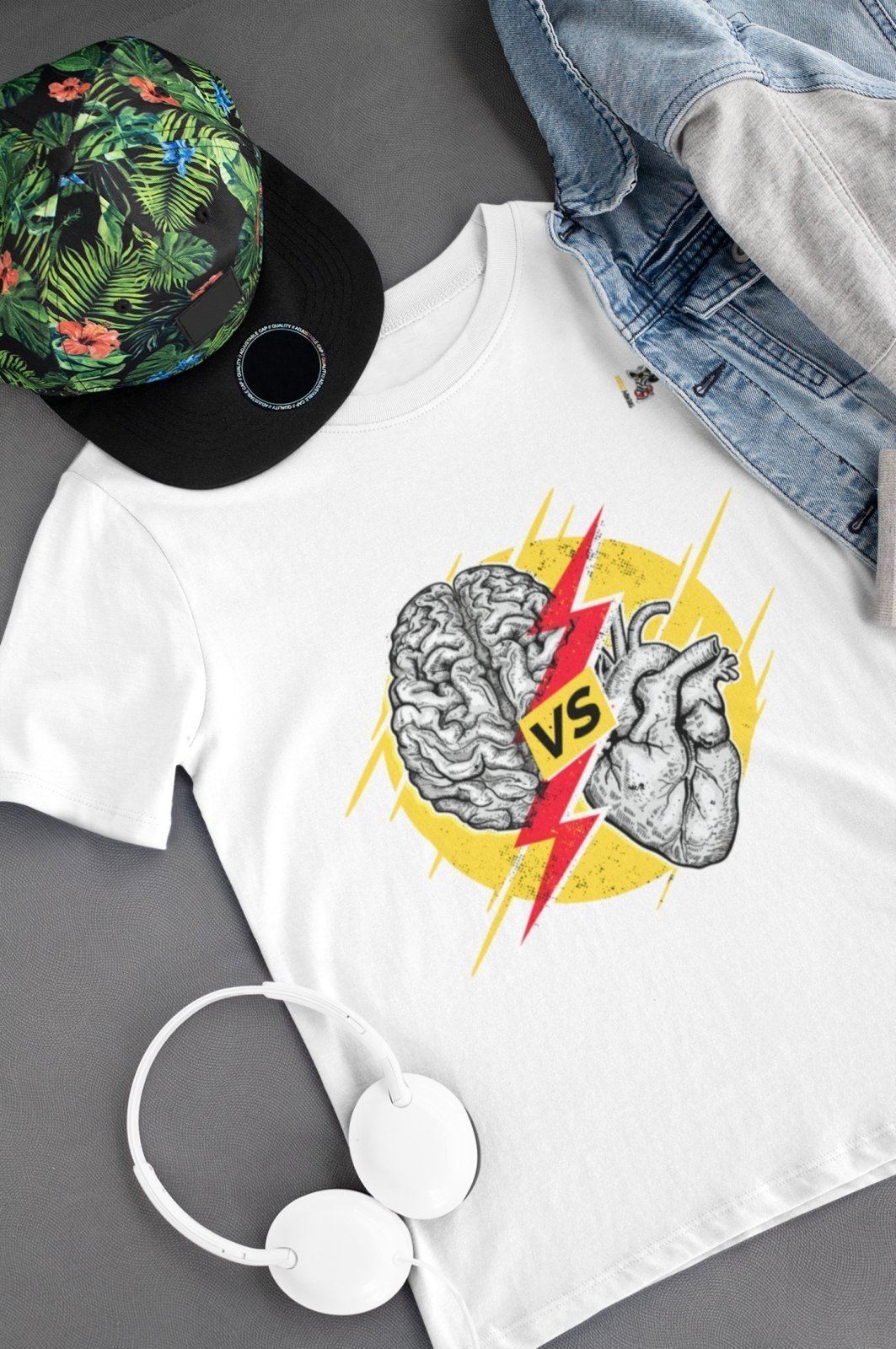 Brain vs Heart - T-shirt Trendy Zebra