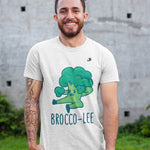 Broccoli Short Sleeve Funny Cotton T-shirt Trendy Zebra