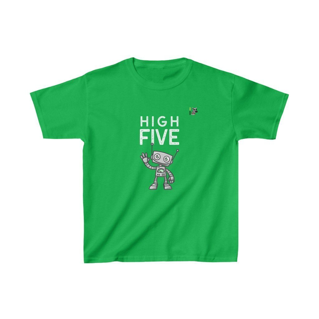 High Five -  Kids Heavy Cotton Tee Trendy Zebra