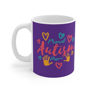 Proud Autism Mom Mug Trendy Zebra