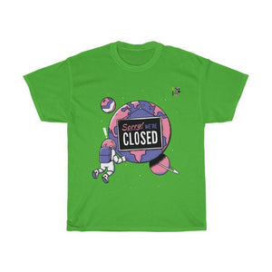 Sorry Planet is Closed T-Shirt Trendy Zebra