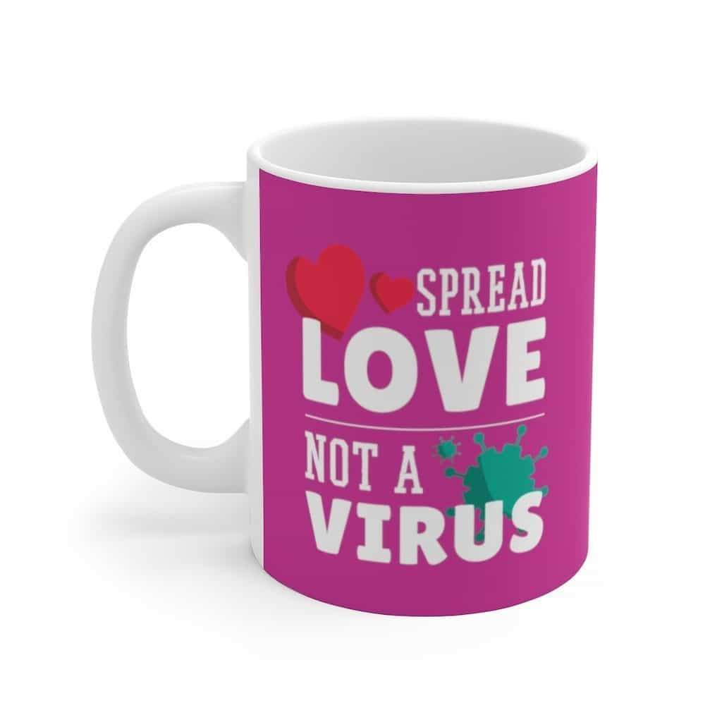 Spread love not a Virus Mug Trendy Zebra