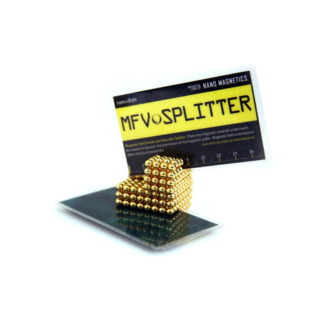 Nanodots MFV Splitter Card placed in Nanodots Magnetic Constructors