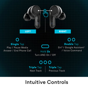 MEE audio X20 Truly Wireless Active Noise Canceling In-Ear Earphones