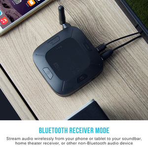 MEE Audio Connect Hub Universal Dual Headphone and Speaker Bluetooth Audio Transmitter & Receiver for TV - Analogueplus