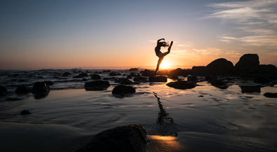 healthy dancer at sunset sea health benefits of dancing
