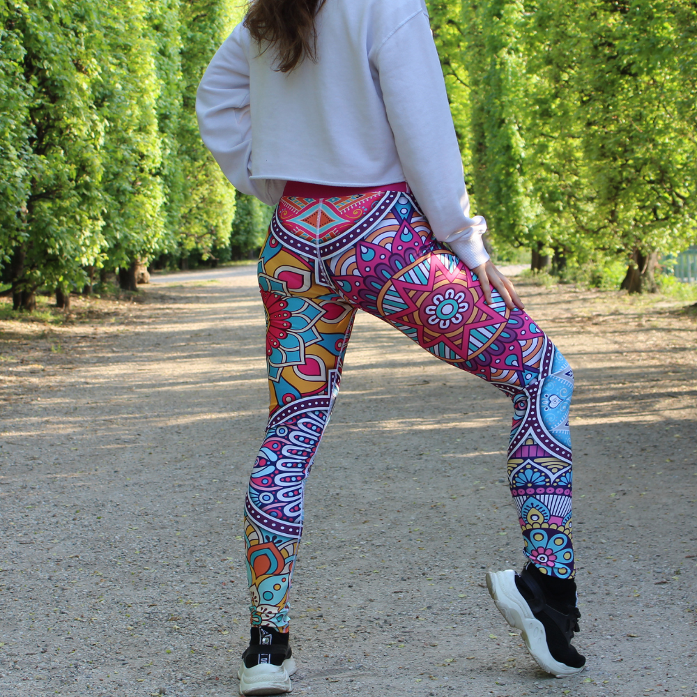 La Mandala High-Waist Dance Leggings