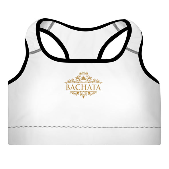 Bachata Gold Padded Sports Bra - Infinity Dance Clothing