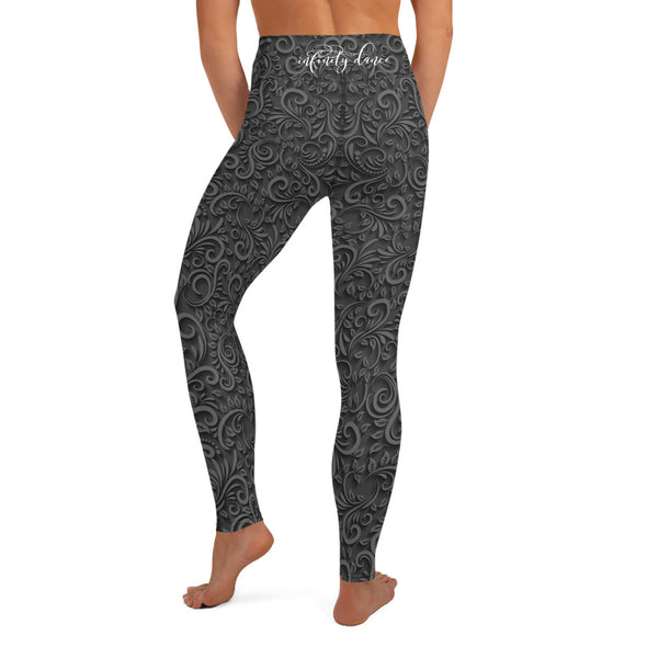 Black Beauty High-Waist Dance Leggings