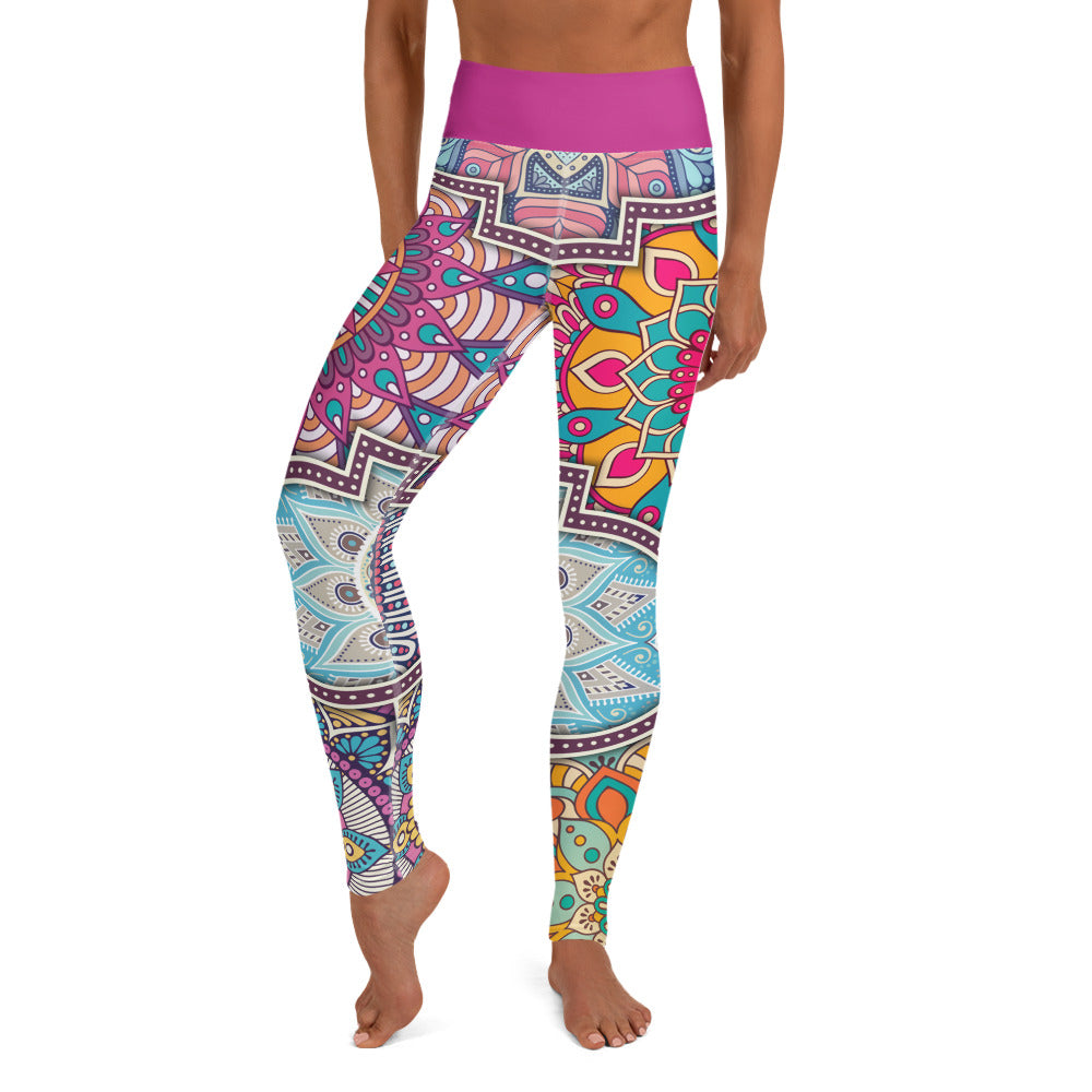 La Mandala High-Waist Dance Leggings-Leggings-Infinity Dance Clothing