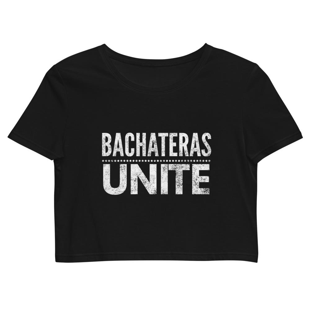 Bachateras Unite Black Organic Crop Top