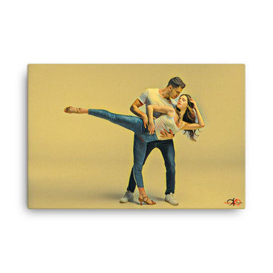 dance canvas art bachata passion