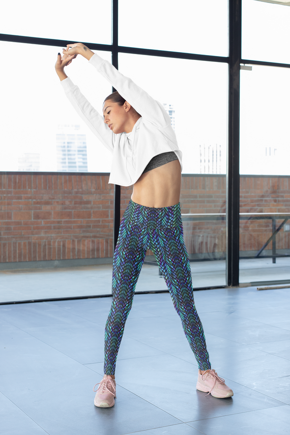 Escamas Brillantes High-Waist Dance Leggings - Infinity Dance Clothing