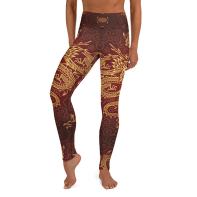 Il Drago High-Waist Dance Leggings - Infinity Dance Clothing