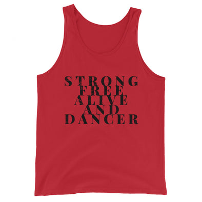 Strong Free Alive And Dancer Men's Tank Top - Infinity Dance Clothing