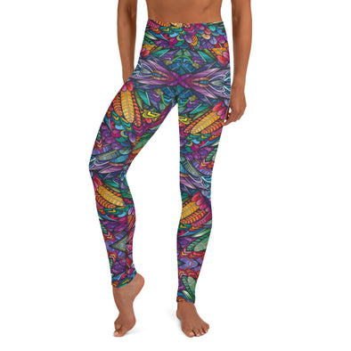 La Naturaleza Viva High-Waist Dance Leggings - Infinity Dance Clothing