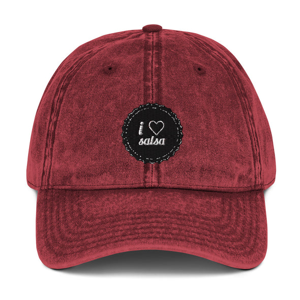 l Love Salsa Vintage Cotton Twill Cap - Infinity Dance Clothing