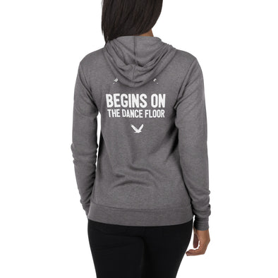 World Peace Begins On The Dancefloor Zip Hoodie-Hoodies-Infinity Dance Clothing