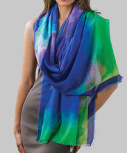 Load image into Gallery viewer, Watercolor Print Cotton Scarf
