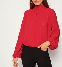 Load image into Gallery viewer, Long Sleeve Women Back-Tie Top