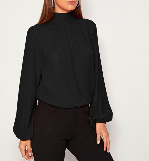 Long Sleeve Women Back-Tie Top