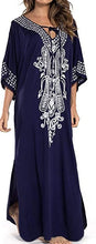 Load image into Gallery viewer, Kaftan Maxi Dress Summer Beach Dress Tunic