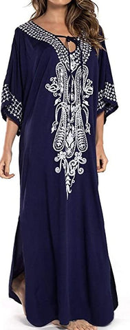Kaftan Maxi Dress Summer Beach Dress Tunic