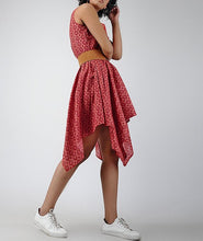 Load image into Gallery viewer, Red Printed Cotton Dress