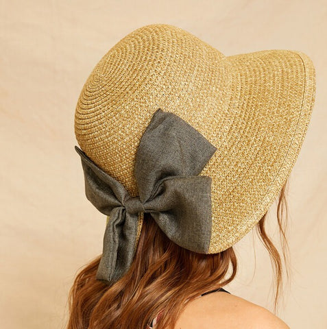 Bow Decor Cloche Summer Hat