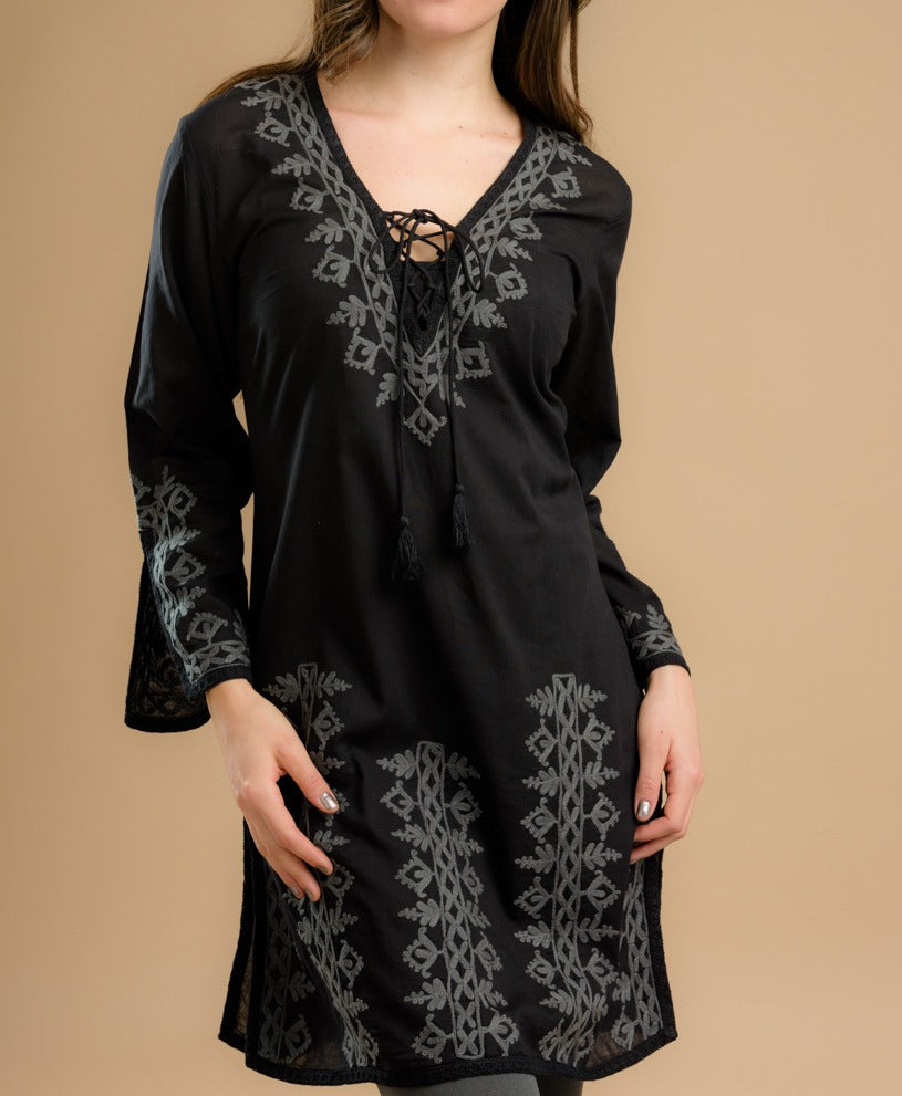 Black Cotton Tunic
