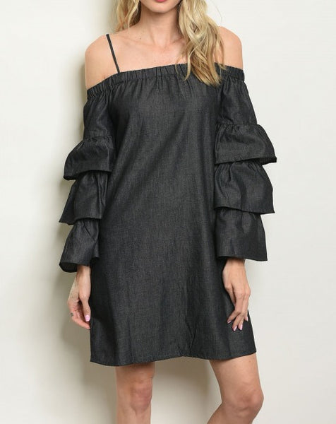 Black Dress Women Off Shoulder dress