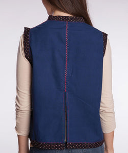 Embroidered Cotton Vest