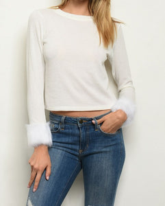 Long Sleeve Ivory Top