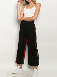 Sequin Lounge Cropped Pants