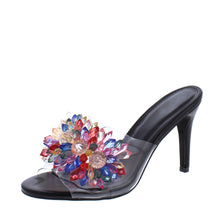 Load image into Gallery viewer, Jeweled Open Toe Slide Heel