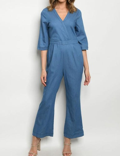 Blue Denim Jumpsuit WOmen Fashion