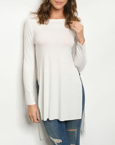 Long Sleeve Ivory Top Tunic