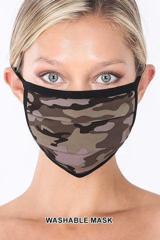 CAMOUFLAGE WASHABLE POLY & COTTON MASK