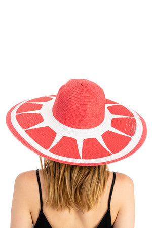 Fruity Straw Sun Hat