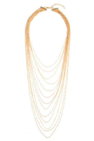Layered Necklace Lines beaded layered statement necklace