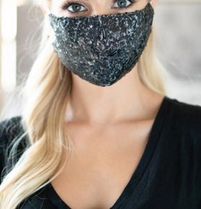 Glitter Women Face Mask