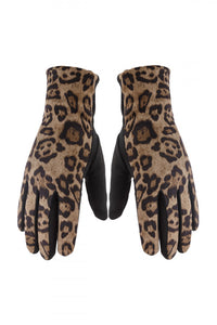 Leopard Gloves Smart Touch Gloves