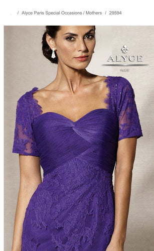 ALYCE PARIS - MOTHER OF THE BRIDE - 29594 DRESS IN PURPLE