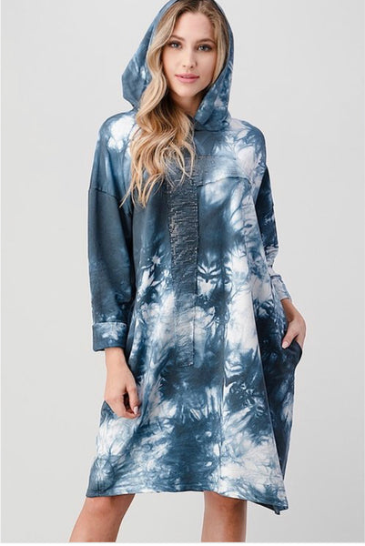 Tunic Long Sleeve Hooded Dress