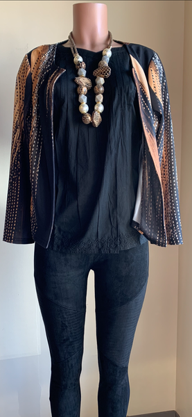 Abstract Open Cardigan