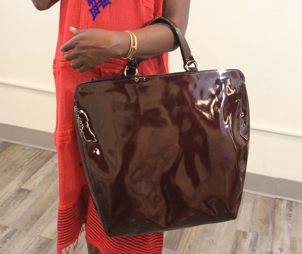 Leather Handbag Burgundy