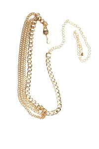 Linked Up Chain Belt - Gold