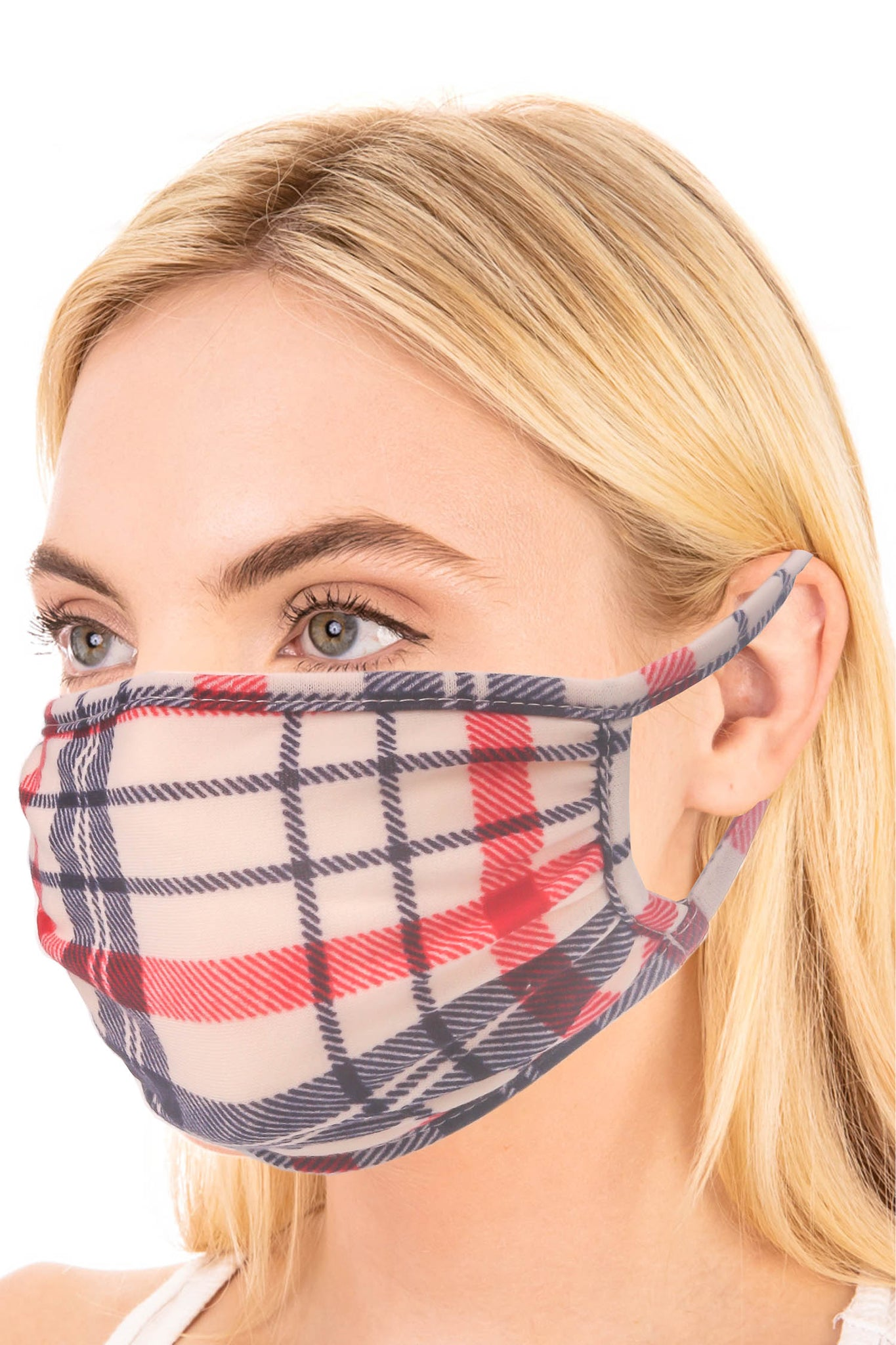 Plaid Adult Face Mask